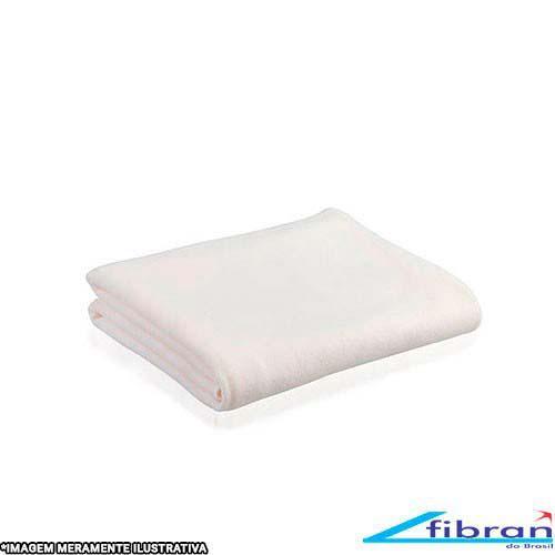 Cobertor microfibra branco casal